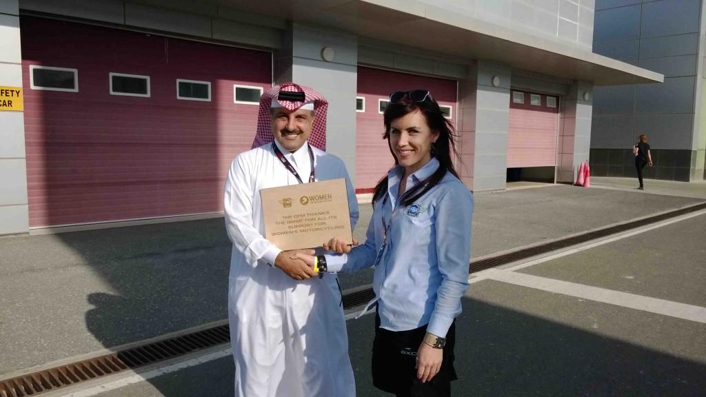 Nita President of Qatar federation sm
